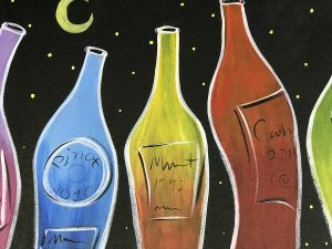 Paint and Sip: Wine Bottle Painting