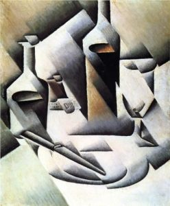Cubist Picasso Inspired Painting