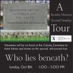 Who Lies Beneath? A Headstone History Tour!