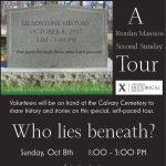 Who Lies Beneath? A Headstone History Tour!