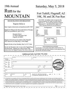 Mountain School's RUN for the MOUNTAIN