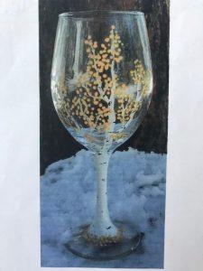Glass Aspen Painting