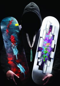 Pivot: Skateboard Deck Art