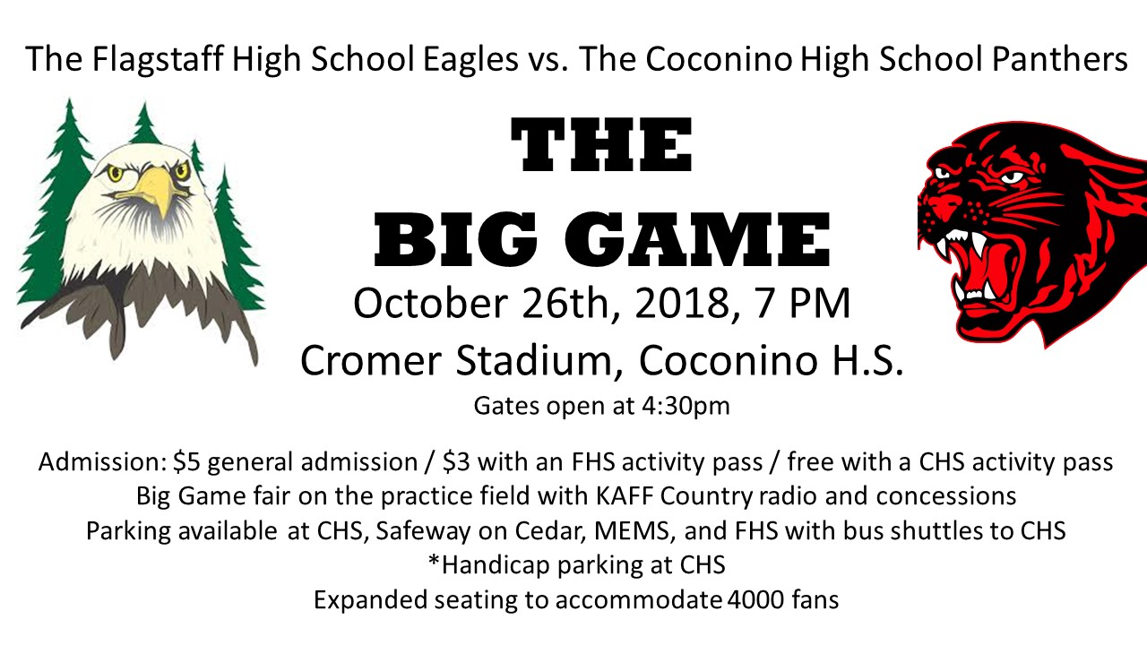 The Big Game presented by Coconino High School | Flagstaff365.com ...
