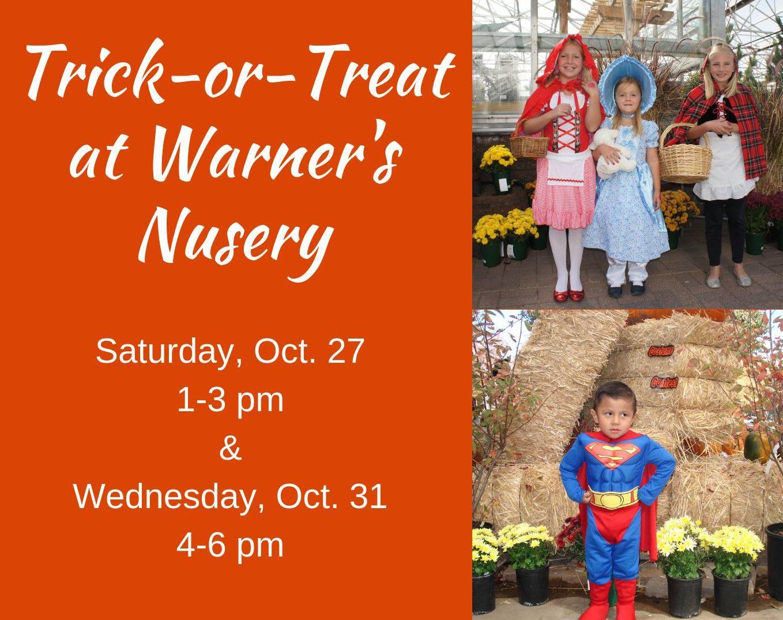 trick-or-treat presentedwarner's nursery | flagstaff365 - a