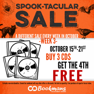 Bookmans Spook-tacular CD Sale