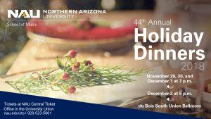 NAU Choral Studies: 44th Annual Holiday Dinner