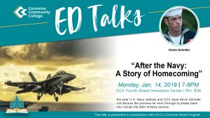 """CCC Ed Talks: """"After the Navy: A Story of Homecomi..."""