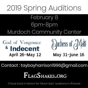 Flagstaff Shakespeare Festival 2019 Auditions presented by Flagstaff