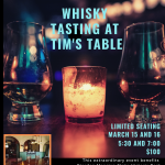 Whisky Tasting at Tim's Table