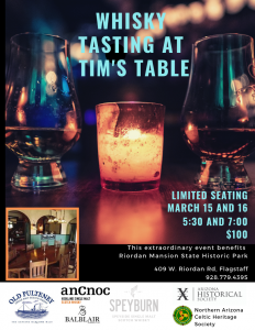 Whisky Tasting at Tim's Table