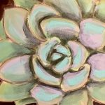 Paint a Succulent in Acrylic