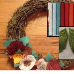 Paint the Town with Creative Spirits and Blendz - Fall Felt Flower Wreath