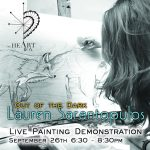 Lauren Sarantopulos - Live Painting Demonstration