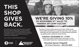 Shop at Mountain Sports in Support of Camp Colton
