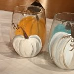 Wine Glasses (Set of 4) Painting Night at Creative Spirits