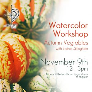 Watercolor Workshop - Autumnal Vegtables