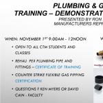Plumbing & Gas Line Training - Certification