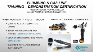 Plumbing & Gas Line Training - Certification