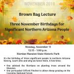 Three November Birthdays for Significant Northern Arizona People