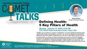 CCC Comet Talks: 5 Key Pillars of Health