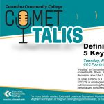 CCC Comet Talks: 5 Key Pillars of Health (Rescheduled)