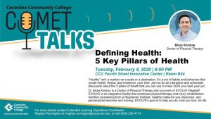 CCC Comet Talks: 5 Key Pillars of Health (Rescheduled)