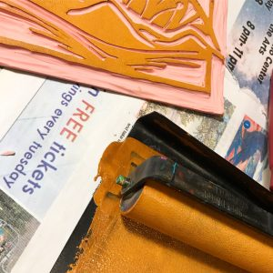 Create Your Own Valentine - Linocut Printmaking Workshop