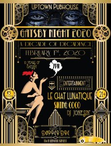 Gatsby Night 2020: A Decade of Decadence at Uptown...