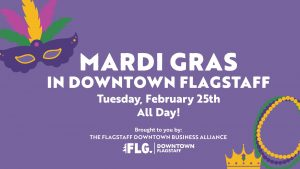 Mardi Gras in Downtown Flagstaff