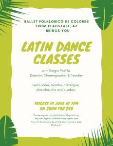 Zoom Latin Dance Classes with Ballet Folklórico de Colores