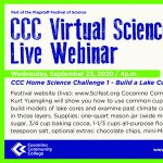 CCC Home Science Challenge I - Build a Lake Core Model & Climate Record