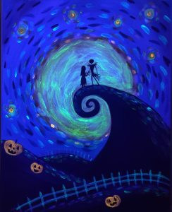 Halloween Night Glow-in-the-Dark Painting Class