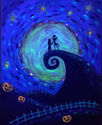 Glow-in-the-Dark Painting Class - Jack and Sally