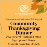 8th Annual Thanksgiving Community Dinner