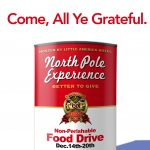 Food Drive Sponsored by North Pole Experience and Little America Hotel