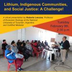 Lithium, Indigenous Communities, and Social Justice: A Challenge!