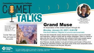 CCC Comet Talk Webinar - Grand Muse: An Exploration of the Grand Canyon through Art