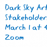 Dark Sky Arts and Ideas Festival (wt)--Stakeholders Meetin