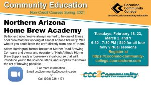 CCC Northern Arizona Home Brew Academy