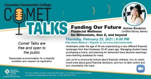 """CCC Comet Talk: """"Funding Our Future"""" Financial..."""