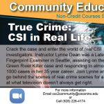 True Crime: CSI in Real Life at Coconino Community College