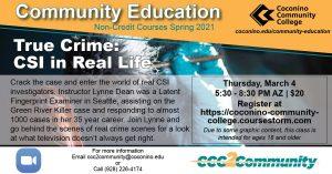 True Crime: CSI in Real Life at Coconino Community College