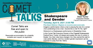 "CCC Comet Talk ""Shakespeare and Gender"""