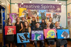 April 2021 Pet Portraits class at Creative Spirits...