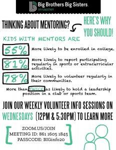 BBBSF Virtual Volunteer Info Sessions