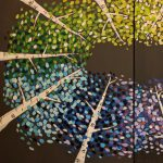 Double Canvas Night at Creative Spirits - Ring of Colorful Aspens