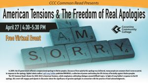 """American Tensions & The Freedom of Real Apologies"" at Coconino Community College"