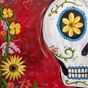 Cinco de Mayo Celebration Painting Class - Sugar Skull