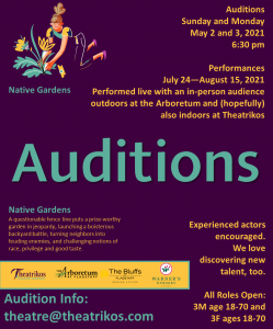 Auditions for Theatrikos Theatre Company